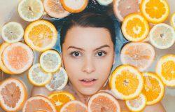Natural facial peel refreshes and renews skin