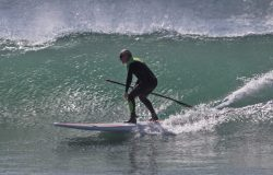 Dr. Noel Peterson practices the slow burn fitness workouts to stay in shape for water sports