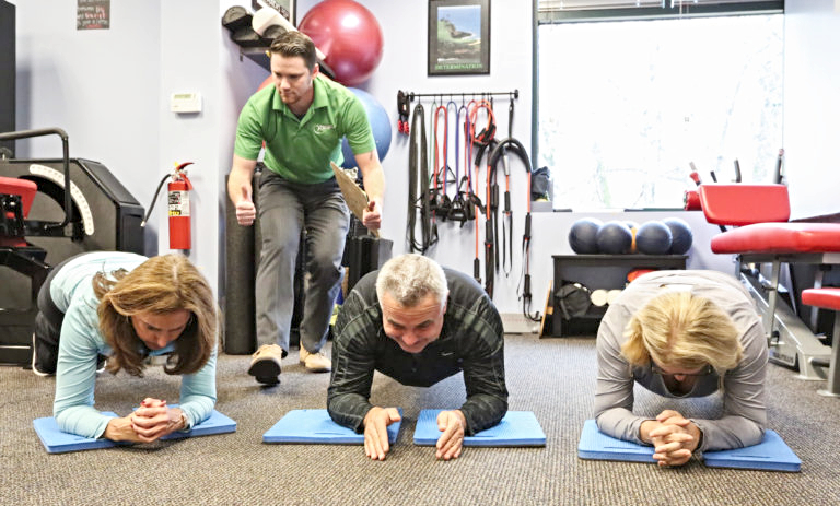 Slow burn fitness workout at Muscles in Motion in Lake Oswego Oregon